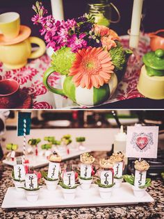 {Alice in Wonderland} Very Merry 30th UnBirthday Party **Mini Forks AND Mini Pots! @Jen Kuley Sibert  @Amy Wykoff **