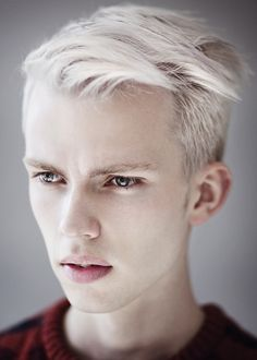 What Chanss would look like if he was... A normal human being. But he's not, so he has serpentine eyes and flakey, pealing skin and his hair is light blond, not white. But besides that it looks exactly like him!