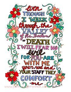 Psalm 23.4 watermark