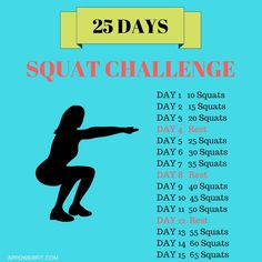 Do you want that summer booty? Or that summer body? Let's do this most effective squat challenge and in just 25 days you'll be doing 100 squats!