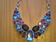 wow - misspelled but still lovely  amythist crystal necklace