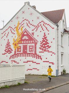 Street Art City Guide to Stavanger, Norway* Murals Street Art, Mural Art, Best Street Art, Location Map, Illustrators, Graffiti, Stavanger Norway, Sculptures, Around The Worlds