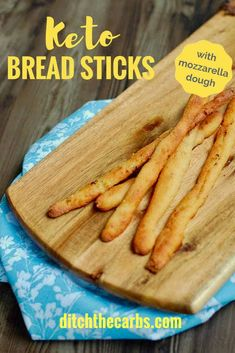 Check these bad boys out - INSANE keto bread sticks with mozzarella dough. Less than net carbs. Easy gluten-free recipe that can be made into keto garlic bread, keto crackers and keto pizza. This is the holy grail of keto bread sticks! Almond Recipes, Gluten Free Recipes, Low Carb Recipes, Bread Recipes, Snack Recipes, Keto Snacks, Yummy Snacks, Yummy Food, Keto Foods
