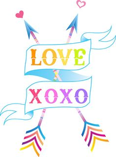 Love+XOXO+Colorful+Arrows+by+faunadesigns