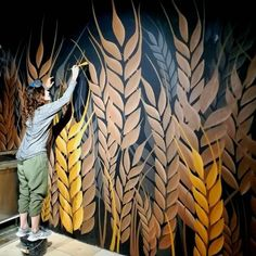 Get Creative Wall Painting Designs & Ideas For A Stylish Hom.- Get Creative Wall Painting Designs & Ideas For A Stylish Home Decor - Creative Wall Painting, Creative Walls, Creative Decor, Mural Wall Art, Mural Painting, Wall Paintings, Graffiti Wall, Deco Originale, Wall Drawing