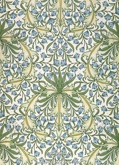 Image of hareball wallpaper, by william morris. england, late century by V Images Art Nouveau, Art Deco, Fabric Wallpaper, Of Wallpaper, Textile Design, Design Art, Fabric Design, Interior Design, William Morris Art