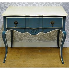 Dark Blue French Style Occasional Table
