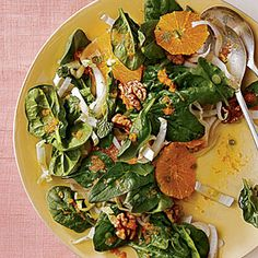 Spinach, Endive, and Tangelo Salad Recipe | Cooking Light #myplate #veggies #fruit