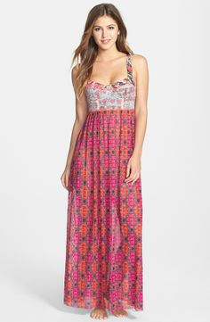 MAAJI Sublime Blimey Cover Up Maxi Dress Pink $99