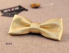 Fashion leather like bow tie