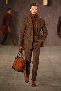 Joseph Abboud Fall 2016 Menswear Fashion Show Semi Formal Outfits, Black Men Beards, Dandy Style, Joseph Abboud, Savile Row, Mens Fashion Suits, Men Style Tips, Gentleman Style, Men's Collection