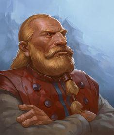 Fantasy Dwarf, Fantasy Rpg, Fantasy Portraits, Character Portraits, Dnd Characters, Fantasy Characters, Character Concept, Character Art, Dnd Dwarf