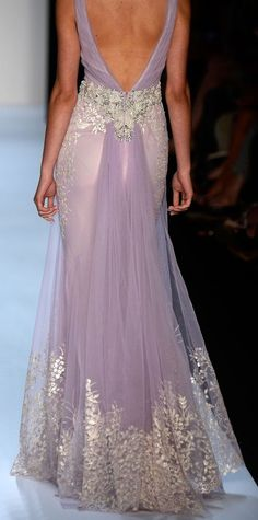 Badgley Mischka Lavender Gown