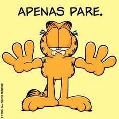 Quando dizem que existem coisas mais importantes do que comer e dormir. Garfield Cartoon, Garfield And Odie, Garfield Wallpaper, Garfield Pictures, Mom Humor, Good Mood, Cute Quotes, Comic Strips, Cool Words
