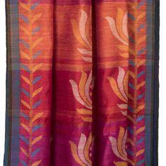 Karomi Handwoven Padmaja Jamdani Silk Sari 10000465 - pallucloseup - AVISHYA.COM