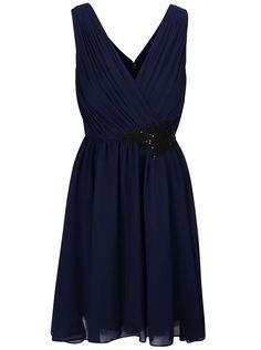 14ba7c92da Tmavomodré šaty so zdobením Little Mistress Milenka