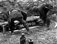 Waffen SS 88mm flak action.
