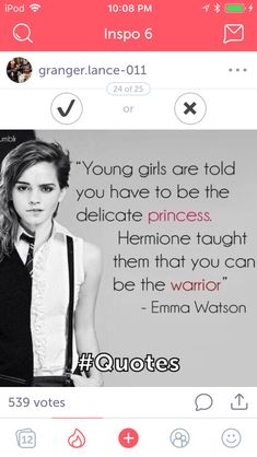 Everyone has a inspiring side Quotes From Harry Potter, Quotes From Books, Harry Potter Fandom, Harry Potter Hogwarts, Harry Potter World, Emma Watson Funny, Emma Watson Quotes, Fandom Quotes, Fandoms