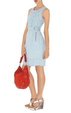 Karen Millen Pale Tencel Denim Dress