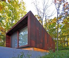 #metal exterior #rusty metal #architecture Studio for a Composer / Johnsen Schmaling Architects
