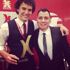 Gustavo Herrera y Troy Alvarado. Premios Sayce 2014