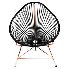 Black and brass Acapulco Chair