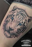 Belfast-based tattoo artist specialising in Black & Grey and Reaistic tattooing at India Street Tattoo. #realistictattoo #tattoo #tattoobelfast #belfasttattoo #blackgreytattoo #greytattoo #animaltattoo #whitetiger #tigertattoo www.indiastreettattoo.com