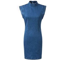 You're the best there is, you need a dress to match. It is adorned with perkins collar, sleeveless, back cut out and zip back fastening. We love it with high h…