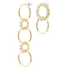 Joomi Lim Swarovski pearl mismatched interlocking hoop drop earrings (31.029.515 IDR) ❤ liked on Polyvore featuring jewelry, earrings, metallic, drop hoop earrings, pearl earrings, pearl drop earrings, drop earrings and interlocking jewelry