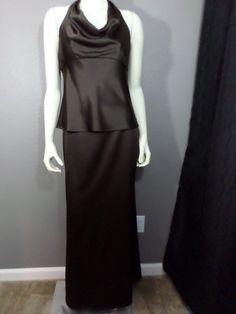 David's Bridal Chocolate Separates - Halter & Skirt