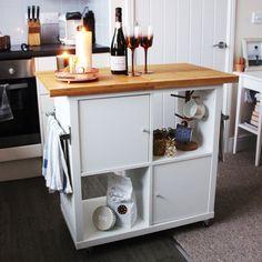 Ikea Kallax Kitchen Island Hack by Jen Lou Meredith