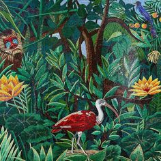 #mindenmozaik #everythingismosaic #artistic #muveszi #art #kezmuves #mozaik #mosaic #ravenna #italy by @sicis_official: Pure strong jungle colors for the coolest of mosaic decoration. Zoom in to travel to Madagascar.