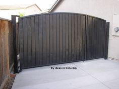solid iron gates - Google Search Backyard Gates, Driveway Gate, Main Gate Design, House Gate Design, Side Gates, Entry Gates, Metal Gates, Wrought Iron Gates, Custom Gates