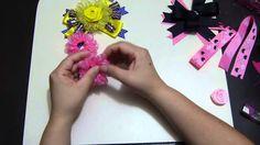 moños y flores en cinta faciles de elaborar para decoracion de peinados ...