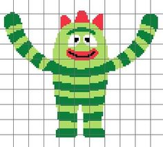 Green Monster Crochet Chart/Graph