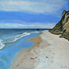 "Saatchi Art Artist Robert Porcello; Painting, ""Aquinnah Cliff's at Martha's Vineyard"" #art"