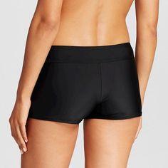 Women's Swim Boyshort - Black Licorice - XS - Merona
