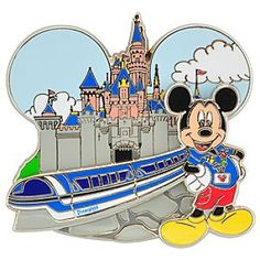 Disneyland Monorail Mickey Mouse Pin