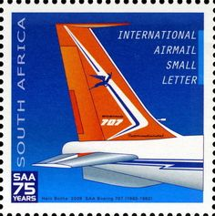 Stamp: Boeing (South Africa) Anniversary of South African Airways) Mi:ZA Union Of South Africa, Boeing 707, Vacation Scrapbook, Small Letters, Old Signs, My Childhood Memories, Countries Of The World, Historical Photos, Tourism