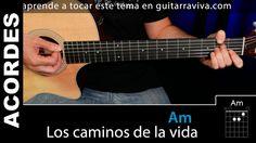 Los Caminos de La vida acordes para guitarra tutorial