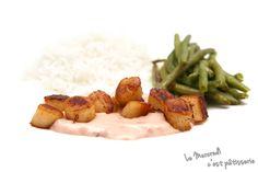 Noix de Saint-Jacques au Porto Green Beans, Chicken, Meat, Vegetables, Blog, Porto, Wednesday, Cheer Snacks, Envy