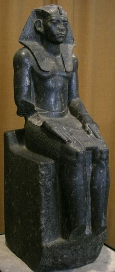 Pharaoh Amenemhat III from the 12th dynasty. Reign: 1860 BC to 1814 BC.                 Hermitage Museum St Petersburg