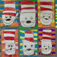 Directed Draw Cat In The Hat I Love This Idea Especially If