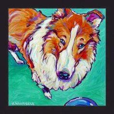 like this artist's take on dog portraits