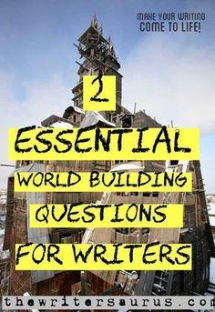2 essential world-building Qs