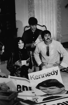 Sonny & Cher campaign for Robert Kennedy, 1968
