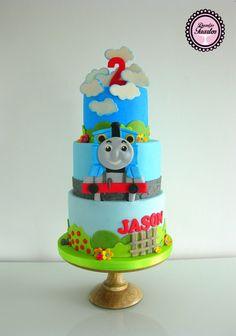 Kindertaart Thomas de trein