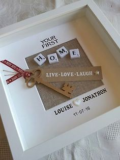 PERSONALISED HOUSE WARMING GIFT NEW HOME SWEET HOME - FIRST HOME - WEDDING