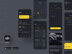 Airbasket App - Dark Mode by Quan Ha for hexagon.agency on Dribbble The Effective Pictures We Offer You About simple App Design A quality picture can tell you many things. You can find the most beauti Mobile App Design, Mobile App Ui, Web Design, App Ui Design, Design Layouts, Flat Design, Gui Interface, Interface Design, App Design Inspiration