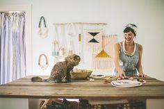 Sally England in her studio.